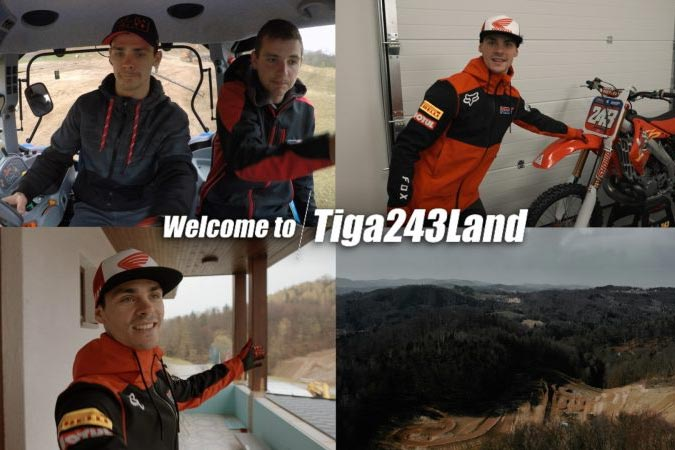 Join reigning MXGP world champion Tim Gajser as he shows you around his new track, Tiga243land.