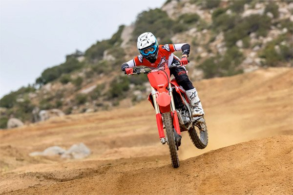 Jett Lawrence at the launch of the all new 2022 Honda CRF250 motocross bike