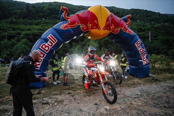 German KTM enduro rider Manuel Lettenbichler at the FIM Hard Enduro World Championship at the Red Bull Romaniacs Enduro.
