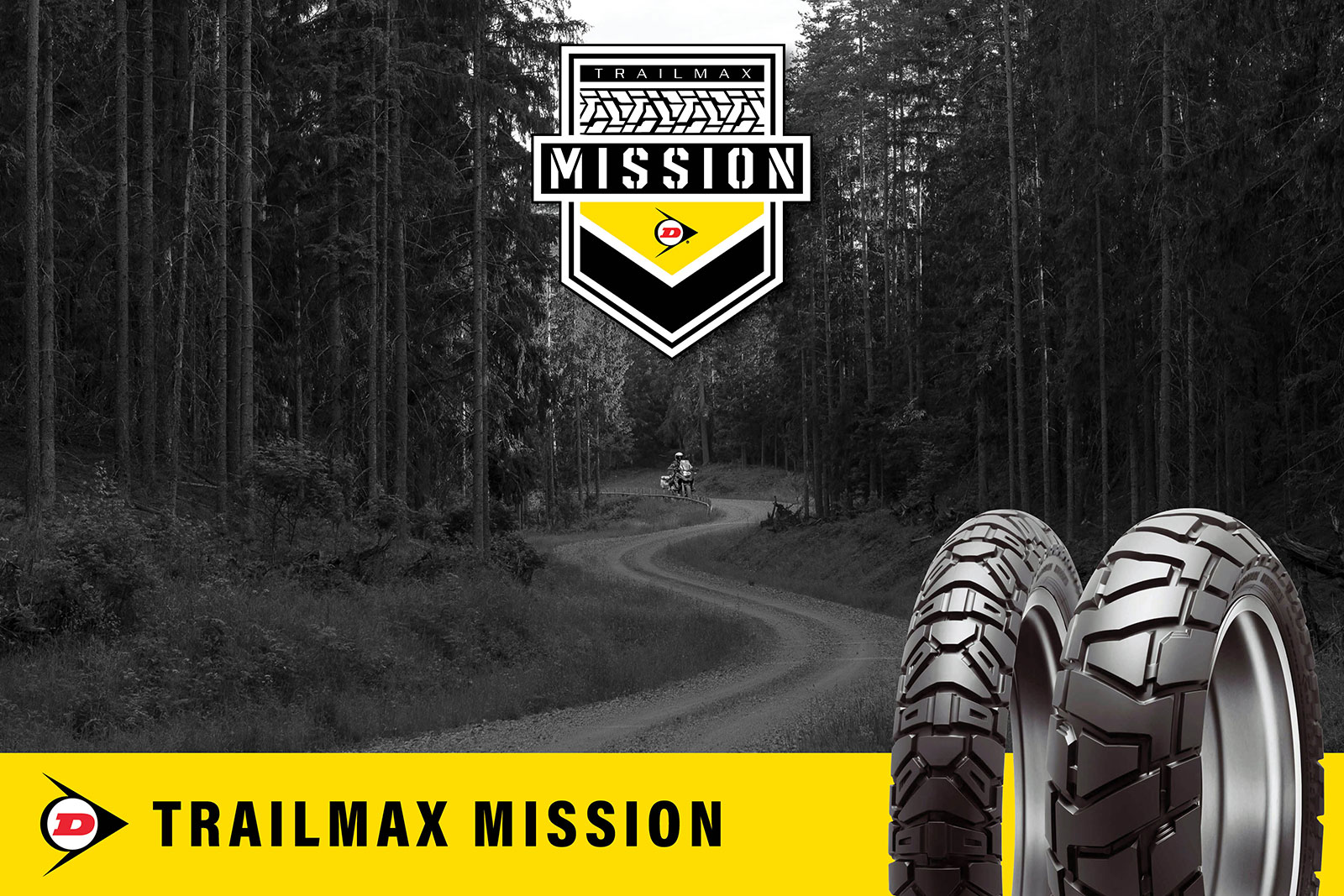 New Dunlop Trailmax Mission 50/50 tyre